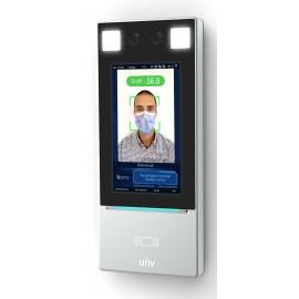 Terminal de contrôle d'accès avec mesure de température numérique et contrôle du port de masque