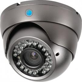 Caméra IP-HD Dôme Infrarouge Grise 2,4 MP