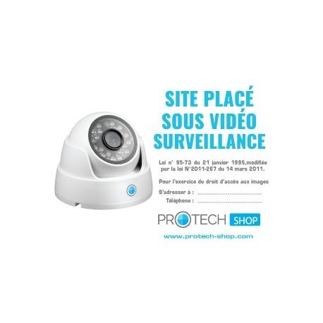 Autocollant site placé sous vidéosurveillance