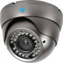 Caméra AHD 1080p Dôme Infrarouge grise 2,4 Mégapixels