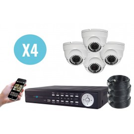 Kit Medium AHD 1080p 4 Caméras FULL-HD